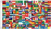 Countries Of The World - 195 Nations' Flags On One Educational 5'x3' Flag